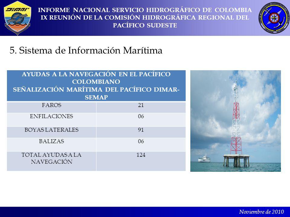 Noviembre de 2010 INFORME NACIONAL SERVICIO HIDROGRÁFICO DE COLOMBIA IX REUNIÓN DE LA COMISIÓN HIDROGRÁFICA REGIONAL DEL PACÍFICO SUDESTE AYUDAS A LA