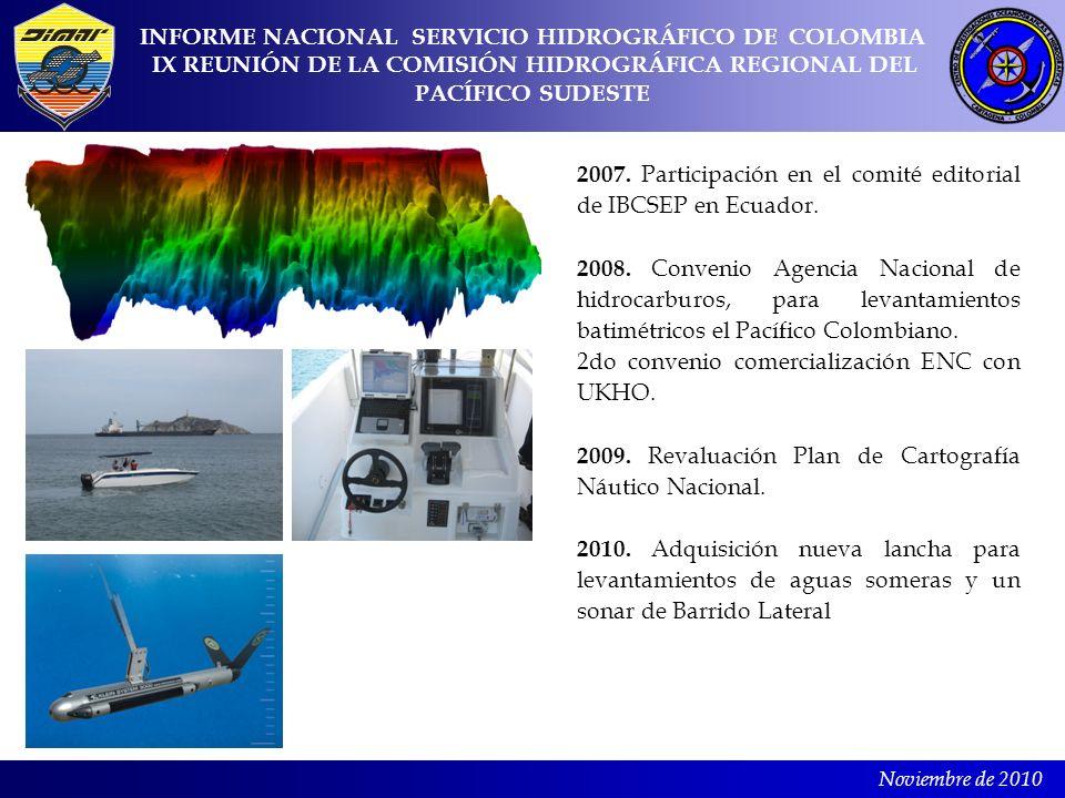 Noviembre de 2010 2007. Participación en el comité editorial de IBCSEP en Ecuador. 2008. Convenio Agencia Nacional de hidrocarburos, para levantamient