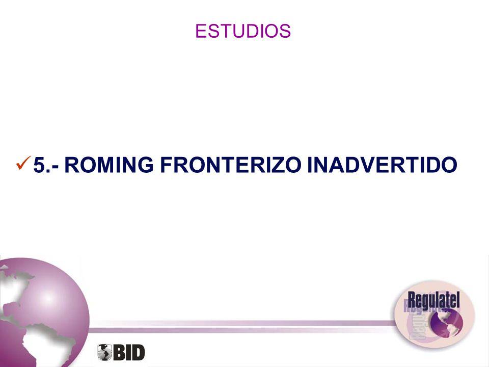 ESTUDIOS 5.- ROMING FRONTERIZO INADVERTIDO