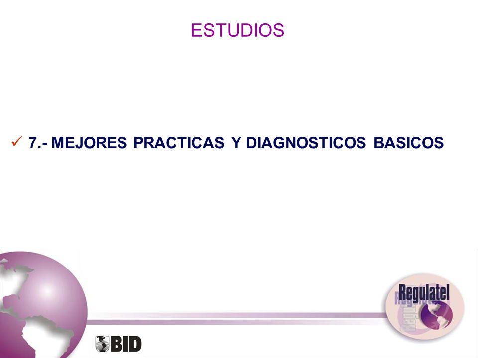 ESTUDIOS 7.- MEJORES PRACTICAS Y DIAGNOSTICOS BASICOS