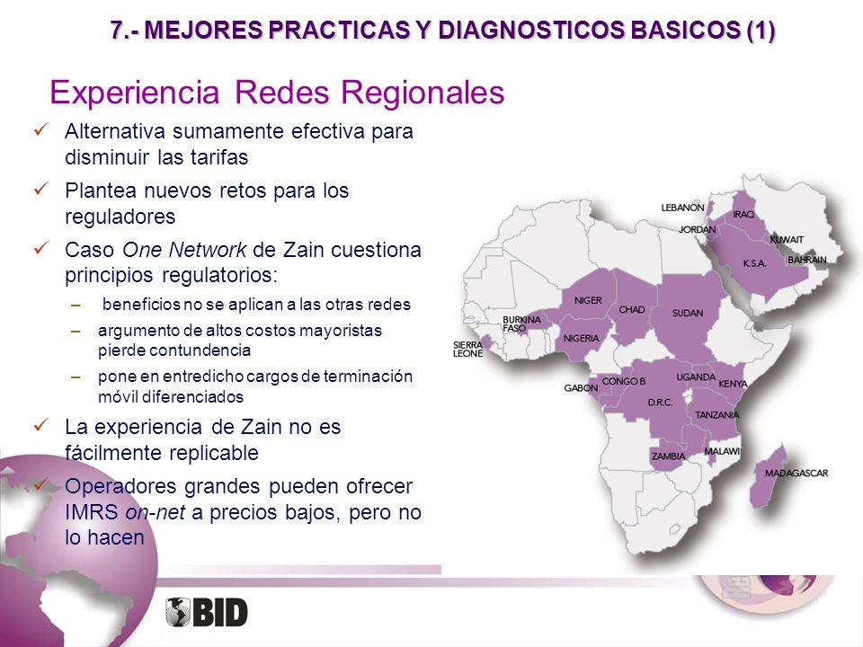 7.- MEJORES PRACTICAS Y DIAGNOSTICOS BASICOS (1) Alternativa sumamente efectiva para disminuir las tarifas Plantea nuevos retos para los reguladores C