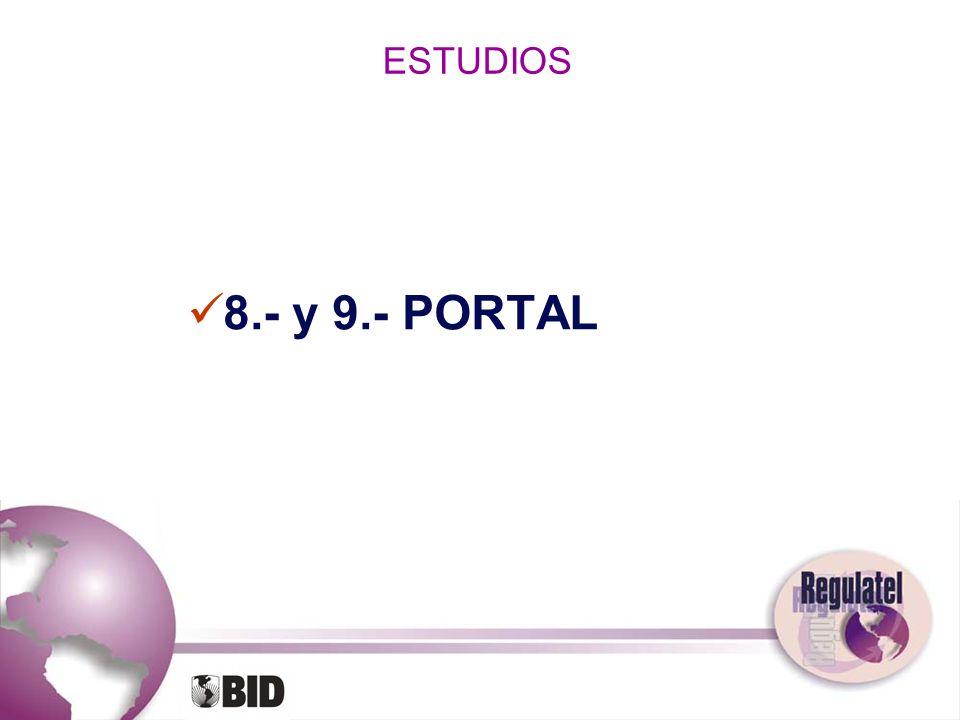 ESTUDIOS 8.- y 9.- PORTAL