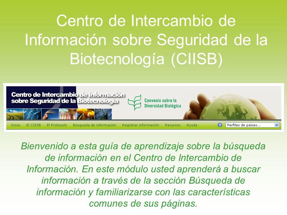 Por ejemplo, vamos a decir que desea encontrar todas las decisiones disponibles en el CIISB sobre maíz que ha sido genéticamente modificado con características para resistencia contra insectos.