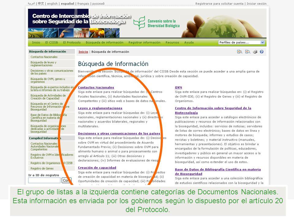 El mismo tipo de documentos de referencia intersectorial se proporcionan en la categoría Decisiones de los países y otras comunicaciones.