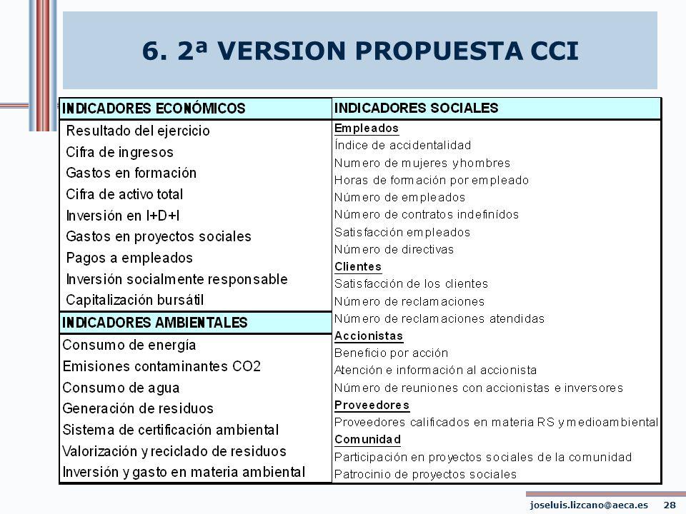joseluis.lizcano@aeca.es 28 6. 2ª VERSION PROPUESTA CCI