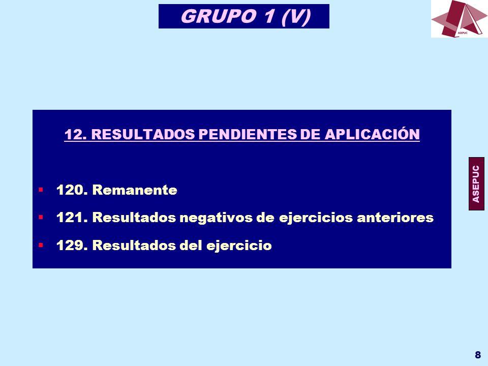 ASEPUC 9 GRUPO 1 (VI) 13.SUBVENCIONES, DONACIONES Y AJUSTES POR CAMBIOS DE VALOR 130.