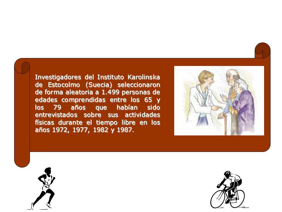 Investigadores del Instituto Karolinska de Estocolmo (Suecia) seleccionaron de forma aleatoria a 1.499 personas de edades comprendidas entre los 65 y