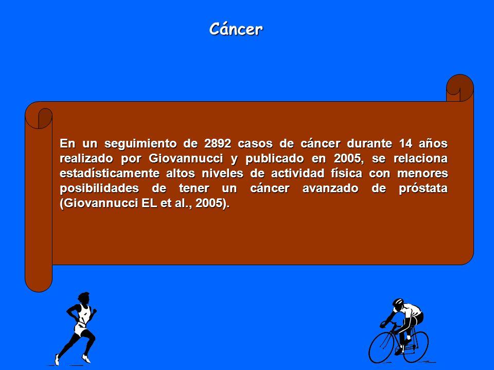 En un seguimiento de 2892 casos de cáncer durante 14 años realizado por Giovannucci y publicado en 2005, se relaciona estadísticamente altos niveles d