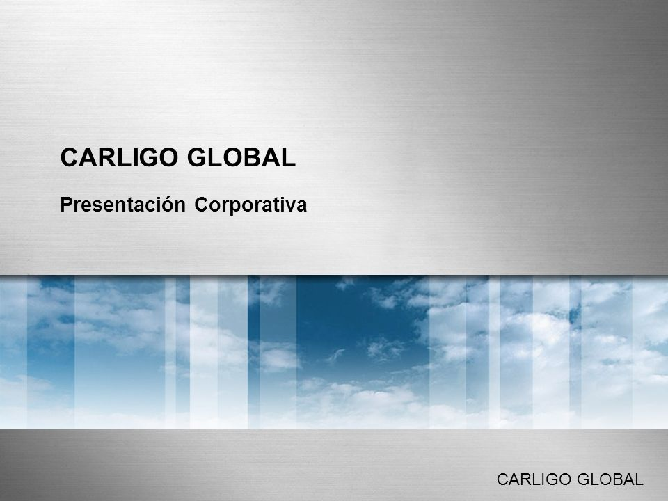 PRESENTACIÓN CORPORATIVA CARLIGO GLOBAL Página 2 Índice Nuestra razón de ser Servicios -Tesorería -Fiscalidad -Control de Gestión -Desarrollo Corporativo -Formación ¿Quiénes somos.