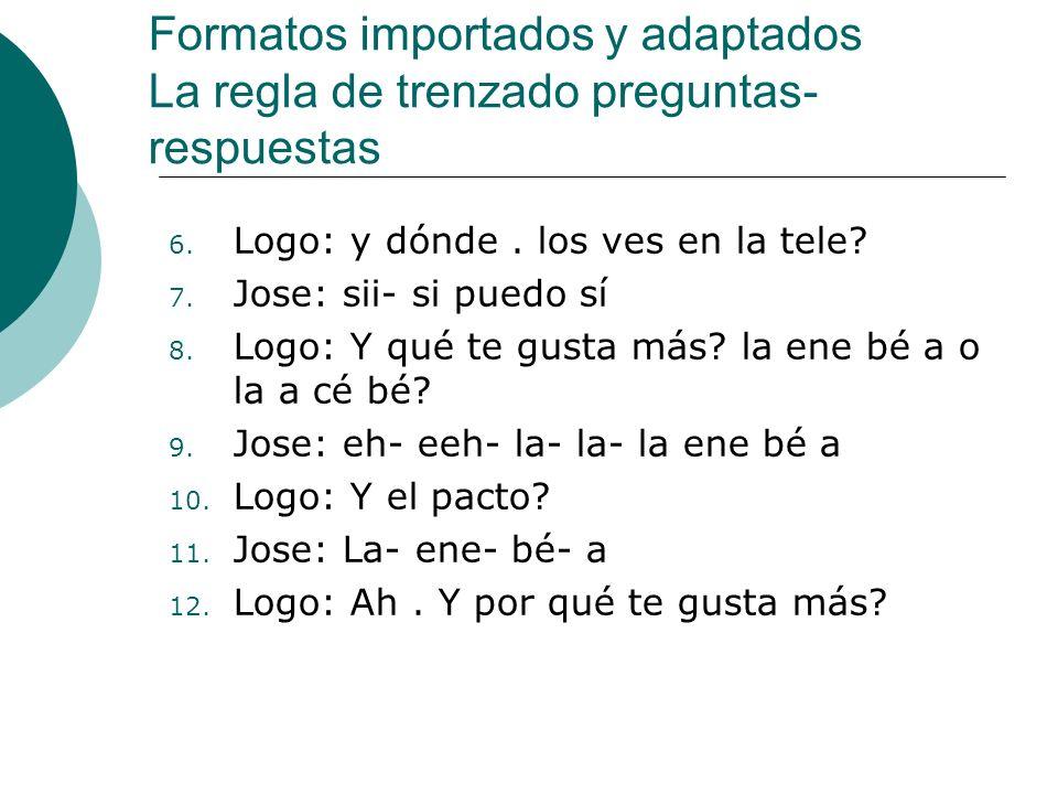 Formatos importados y adaptados La regla de trenzado preguntas- respuestas 6.