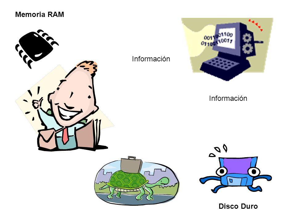 Información Memoria RAM Disco Duro