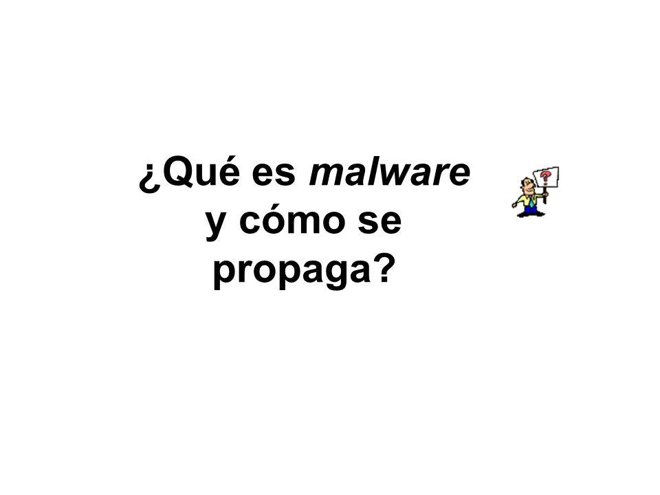 ¿Qué es malware y cómo se propaga?