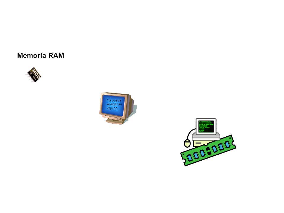 Memoria RAM Ya puede apagar su equipo.