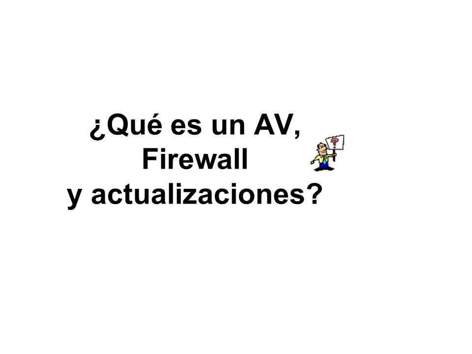 ¿Qué es un AV, Firewall y actualizaciones?