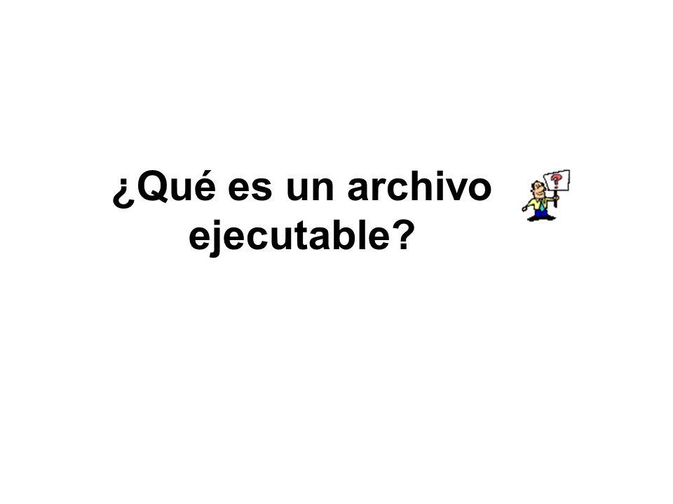 ¿Qué es un archivo ejecutable?