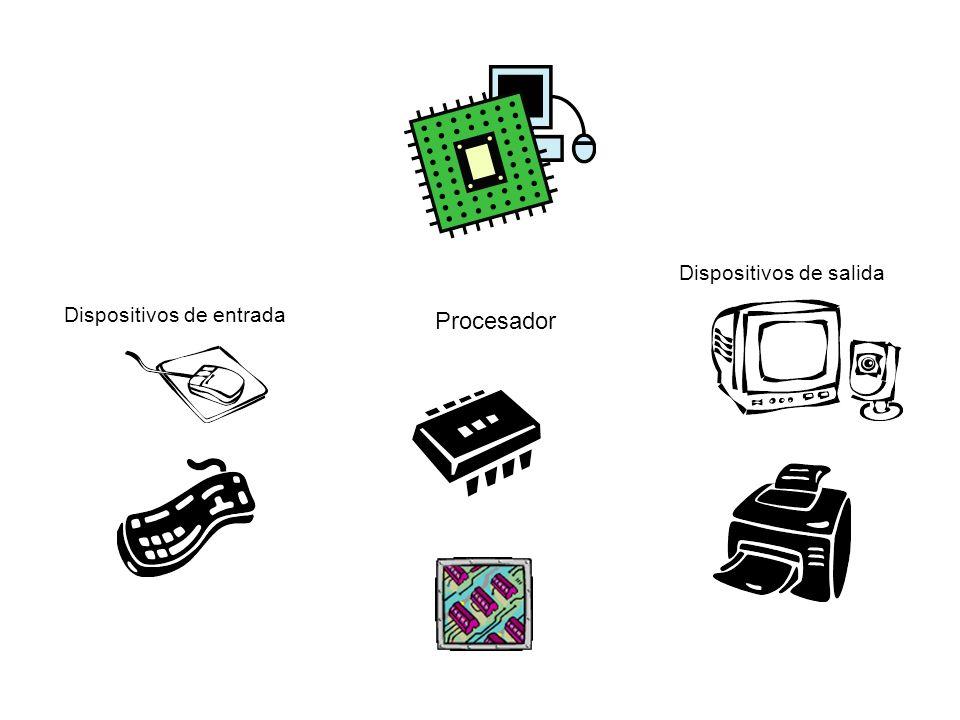Procesador Dispositivos de entrada Dispositivos de salida