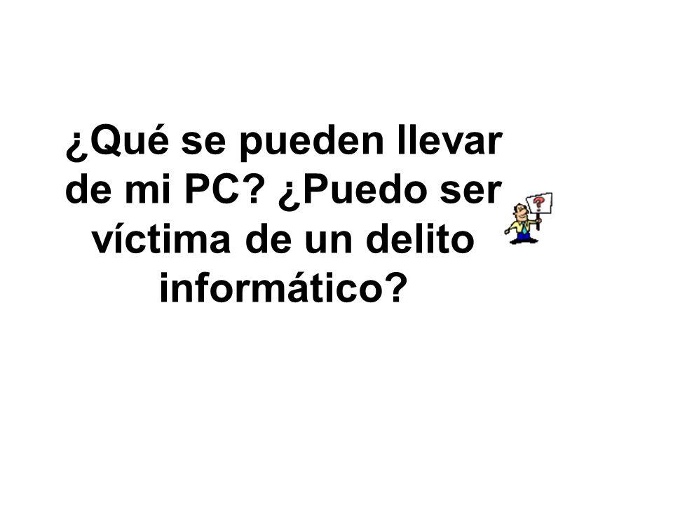 ¿Qué se pueden llevar de mi PC? ¿Puedo ser víctima de un delito informático?