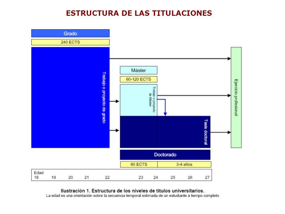 ESTRUCTURA DE LAS TITULACIONES