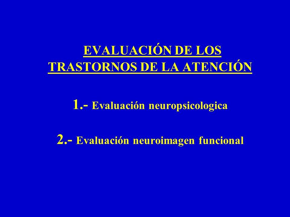 TRASTORNOS DE LA ATENCIÓN Evaluación neuropsicológica - Evaluación neuropsicológica del sistema atención (tipos clínicos de atención) - Evaluación de los mecanismos básicos cerebrales