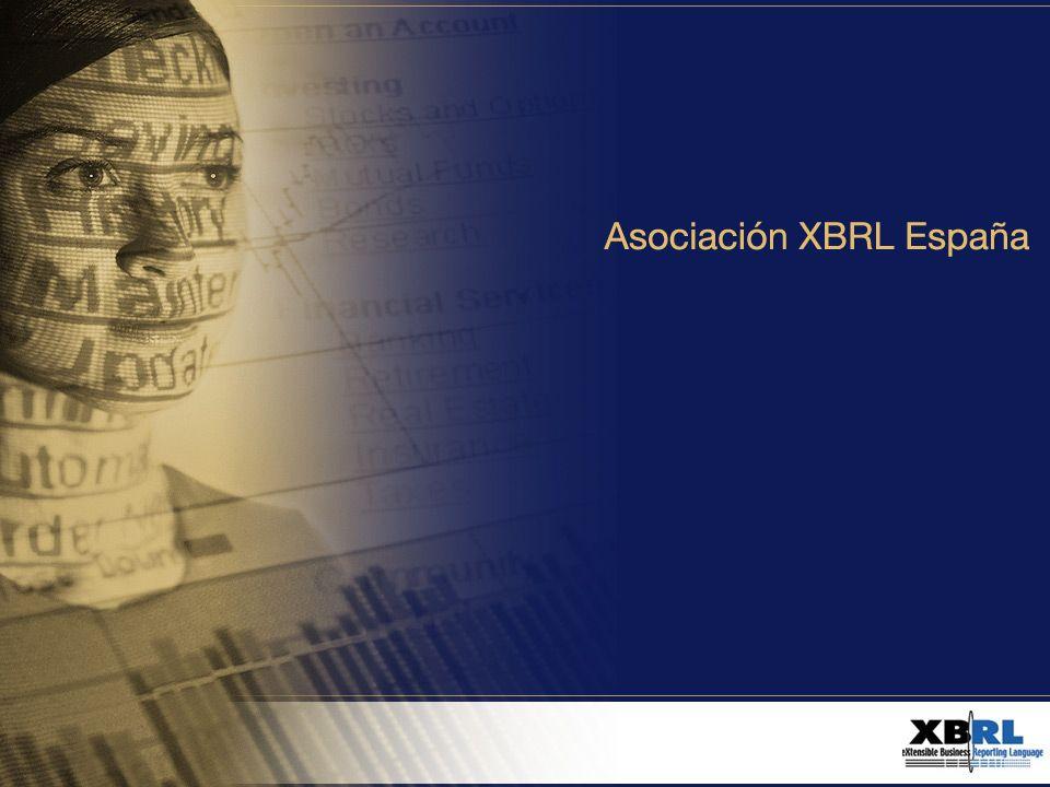 Agenda XBRL Internacional Objetivos XBRL España Órganos de Gestión Principales Ejecutivos Fundadores y Socios Cuotas Asociados Solicitud aceptación Asociado