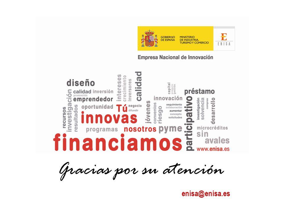 Gracias por su atención enisa@enisa.es
