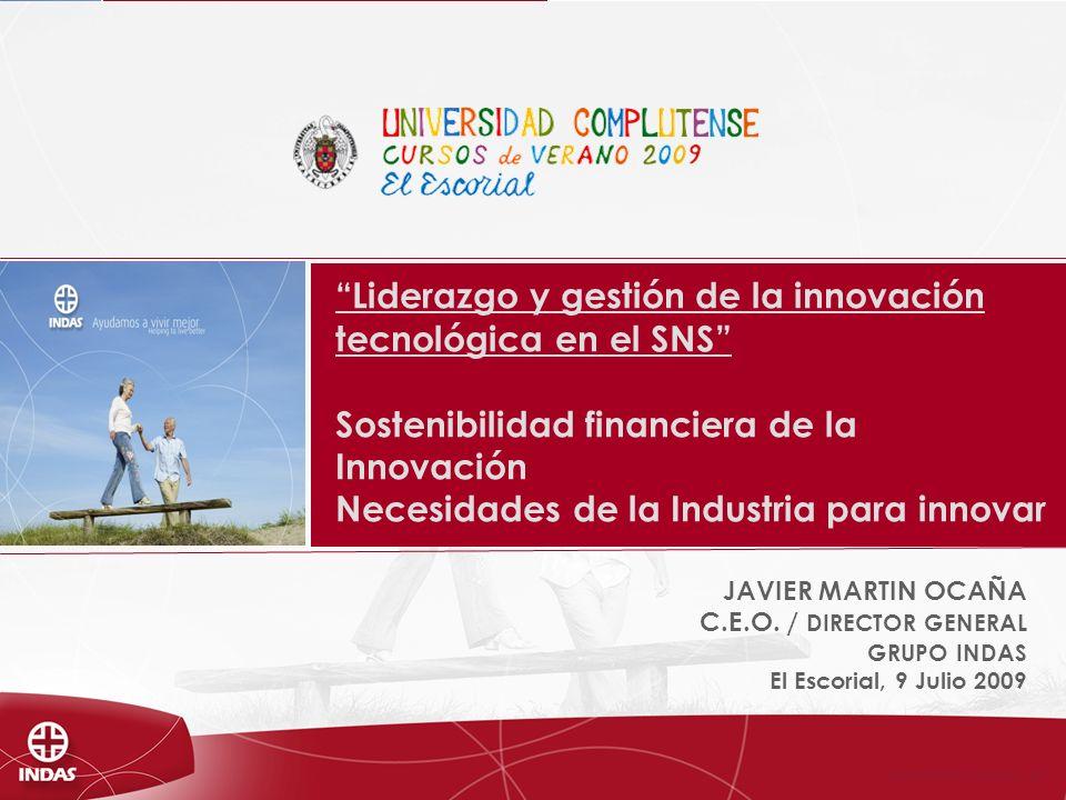 © LABORATORIOS INDAS, S.A.U - 2009 1.Grupo INDAS.Cifras económicas.