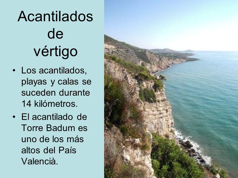 Acantilados de vértigo Los acantilados, playas y calas se suceden durante 14 kilómetros. El acantilado de Torre Badum es uno de los más altos del País