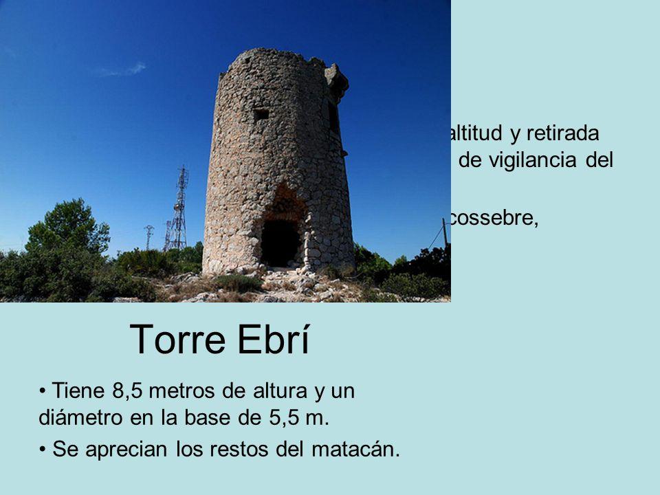 Torre Ebrí En término de Alcalà, a 499 metros de altitud y retirada del litoral, es una torre vigía del sistema de vigilancia del castillo de Xivert.