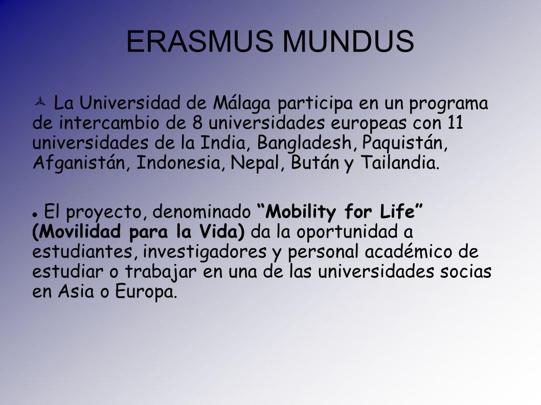 ERASMUS MUNDUS La Universidad de Málaga participa en un programa de intercambio de 8 universidades europeas con 11 universidades de la India, Banglade