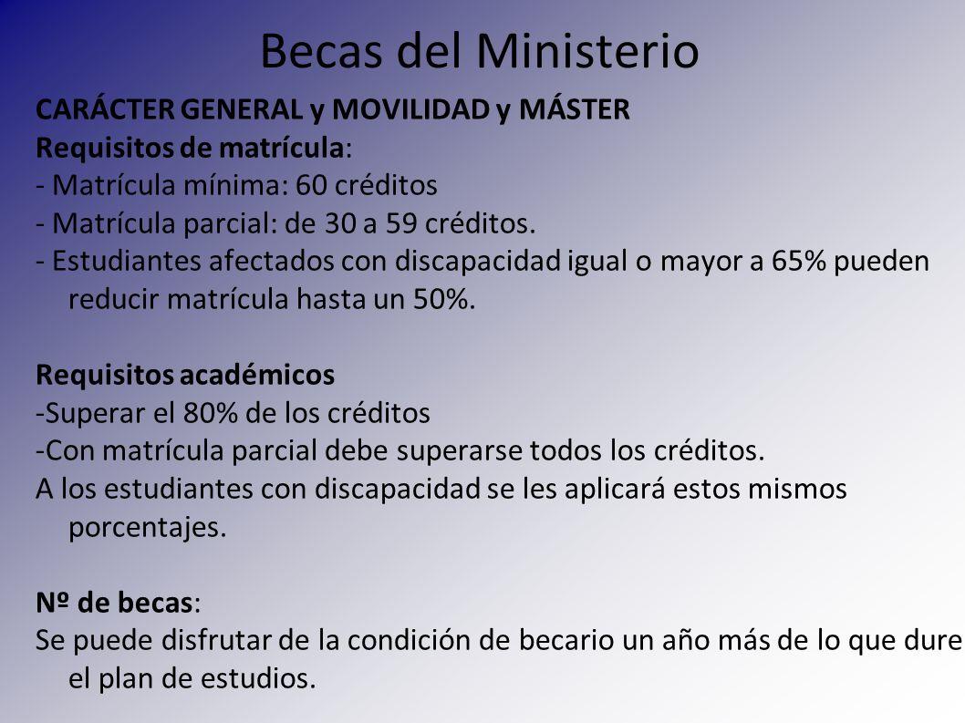 Exención de tasas de matrícula Bolsa de viaje Ayuda de movilidad Fundación Lágrimas y Favores