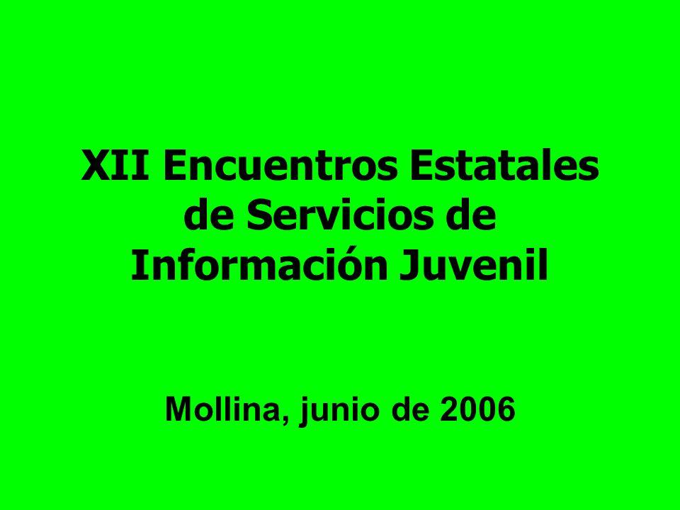 XII Encuentros Estatales de Servicios de Información Juvenil Mollina, junio de 2006
