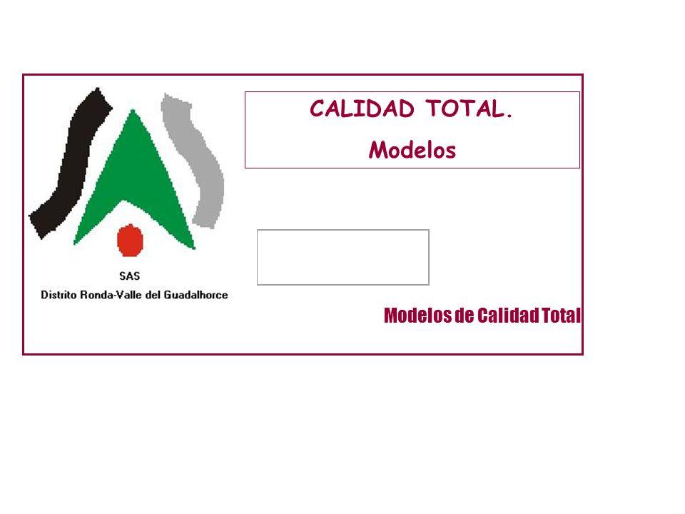 CALIDAD TOTAL. Modelos Modelos de Calidad Total