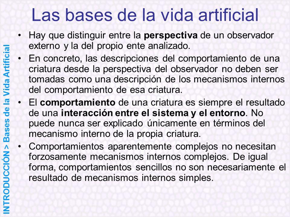 Hay que distinguir entre la perspectiva de un observador externo y la del propio ente analizado. En concreto, las descripciones del comportamiento de