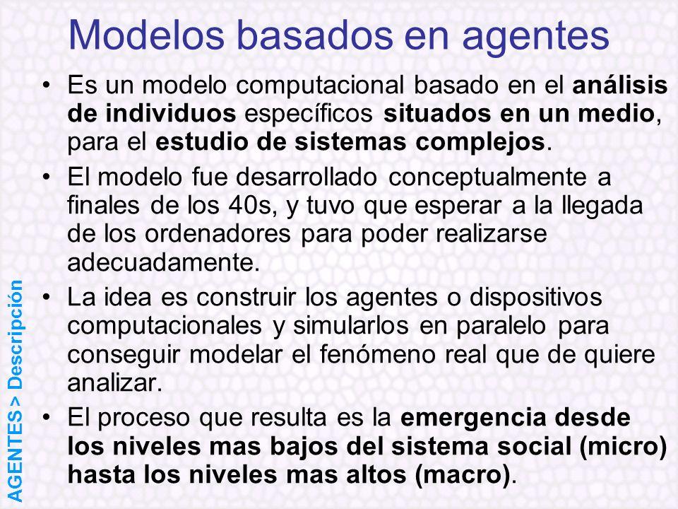 Es un modelo computacional basado en el análisis de individuos específicos situados en un medio, para el estudio de sistemas complejos. El modelo fue
