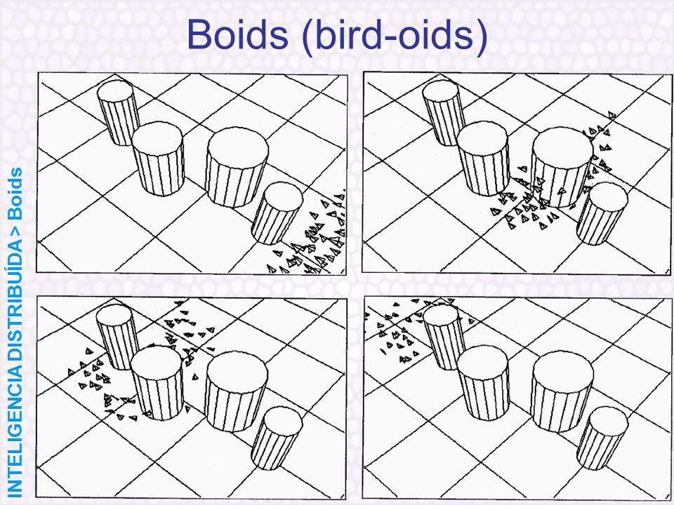 Boids (bird-oids) INTELIGENCIA DISTRIBUÍDA > Boids