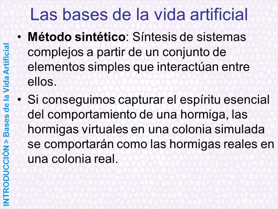 Método sintético: Síntesis de sistemas complejos a partir de un conjunto de elementos simples que interactúan entre ellos. Si conseguimos capturar el