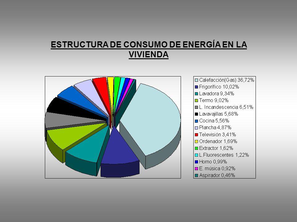 ESTRUCTURA DE CONSUMO DE ENERGÍA EN LA VIVIENDA