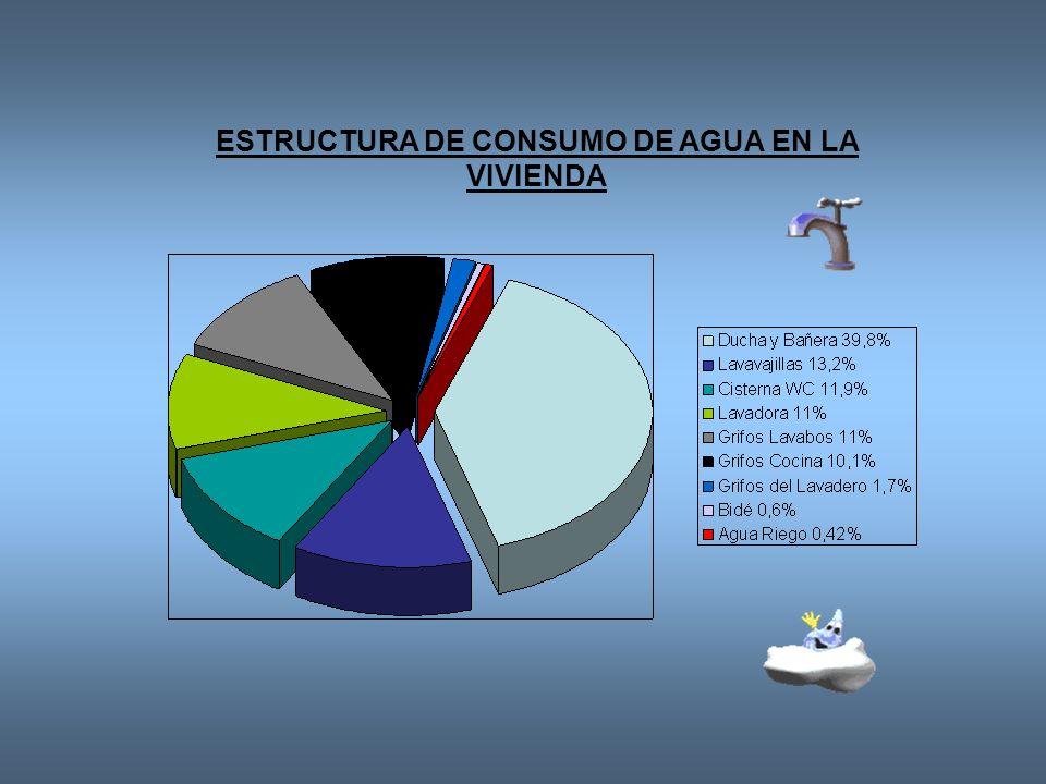 ESTRUCTURA DE CONSUMO DE AGUA EN LA VIVIENDA
