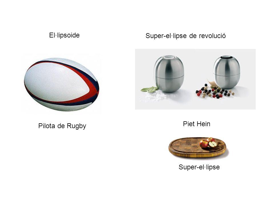 El·lipsoide Pilota de Rugby Piet Hein Super-el·lipse de revolució Super-el·lipse