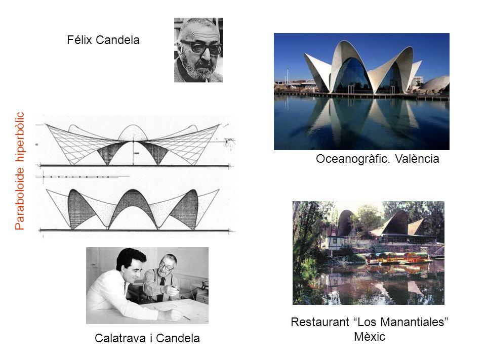 Félix Candela Oceanogràfic. València Restaurant Los Manantiales Mèxic Paraboloide hiperbòlic Calatrava i Candela