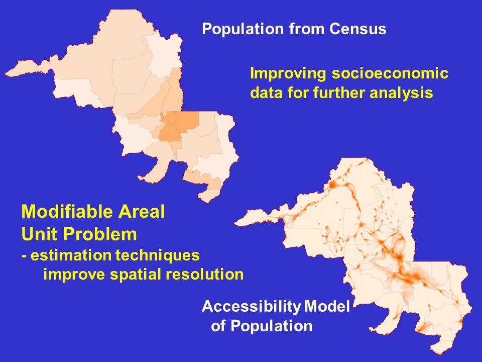 PERU Modeled population counts compared to actual census data for Peru Modeled estimates reduced overall error by one half in Peru Sum of errors when modeled population is compared to actual census data