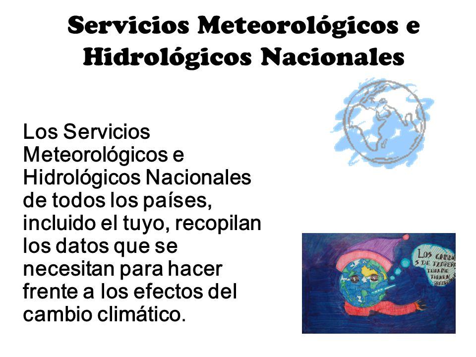 Servicios Meteorológicos e Hidrológicos Nacionales Los Servicios Meteorológicos e Hidrológicos Nacionales de todos los países, incluido el tuyo, recop
