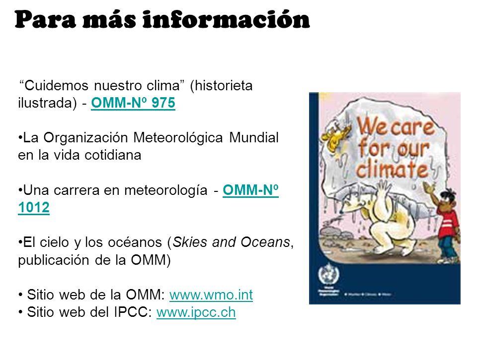 Cuidemos nuestro clima (historieta ilustrada) - OMM-Nº 975OMM-Nº 975 La Organización Meteorológica Mundial en la vida cotidiana Una carrera en meteoro
