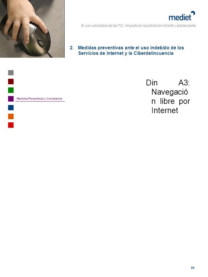 El uso saludable de las TIC: impacto en la población infantil y adolescente 99 Din A3: Navegació n libre por Internet 2.Medidas preventivas ante el us