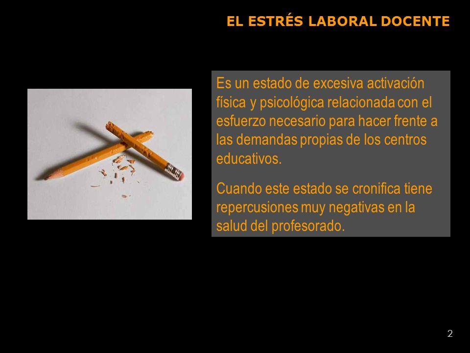 3 EL ESTRÉS LABORAL es un problema grave que está en el origen del 50% de las bajas laborales de la U.