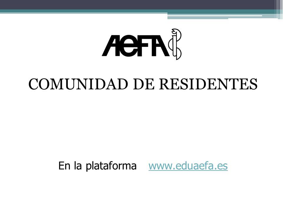 Características de la Comunidad de Residentes Foro con acceso exclusivo para residentes (control de altas y bajas).