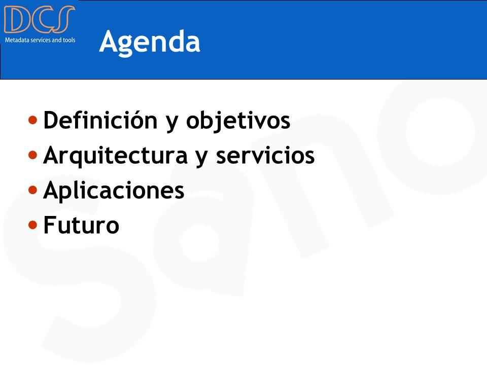 Agenda Definición y objetivos Arquitectura y servicios Aplicaciones Futuro