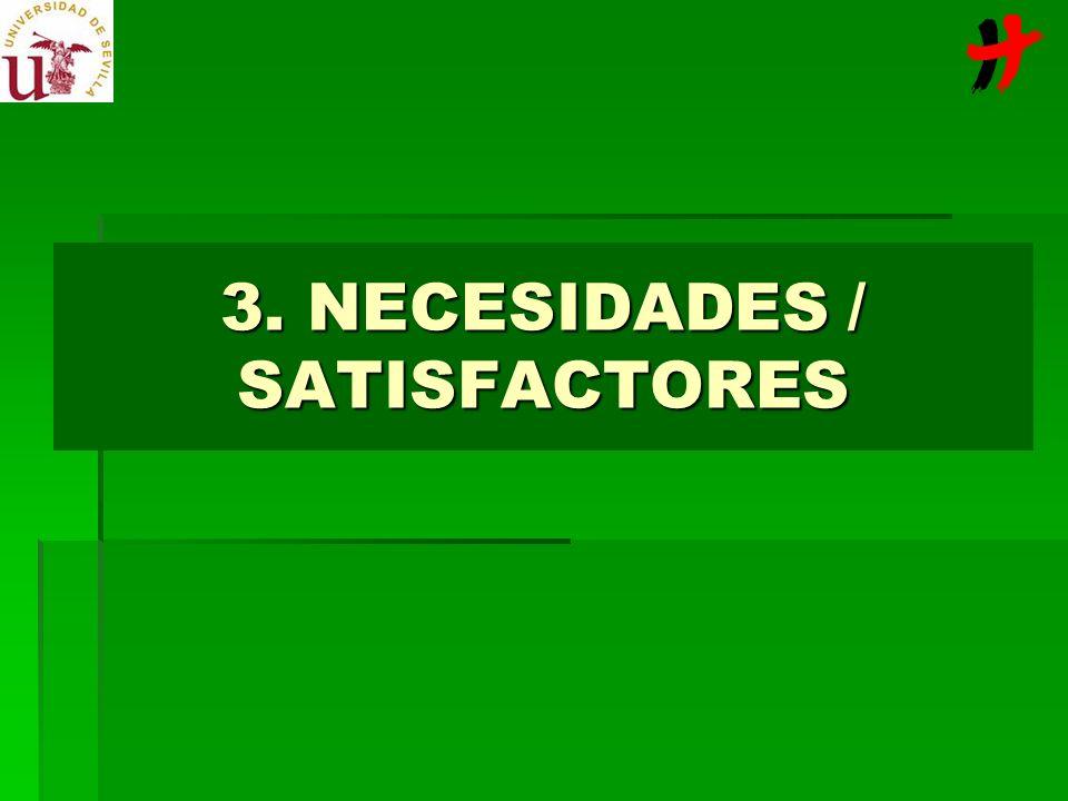 3. NECESIDADES / SATISFACTORES