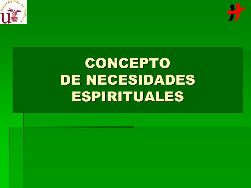 CONCEPTO DE NECESIDADES ESPIRITUALES
