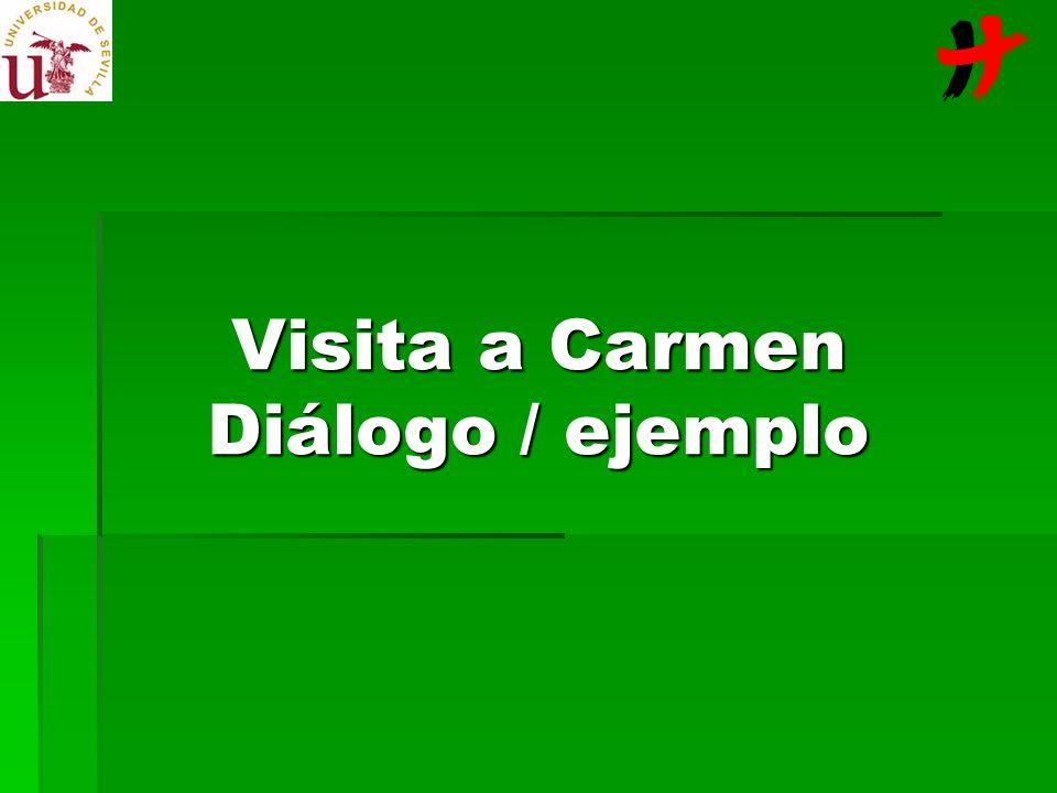 Visita a Carmen Carmen es una señora de 87 años, que padece la enfermedad de Paget, una patología de los huesos, degenerativa, que le produce unos dolores tremendos en la espalda.